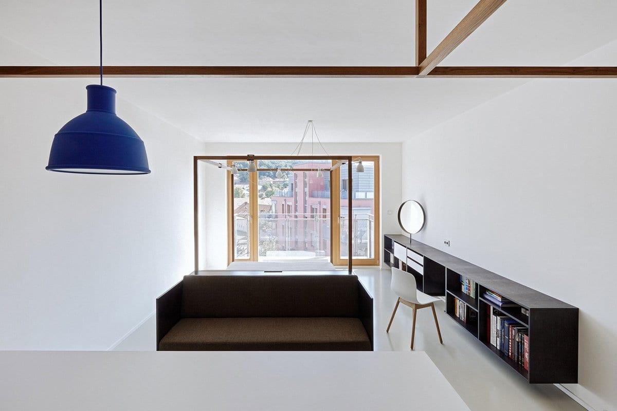 Интерьер квартиры-студии в Праге