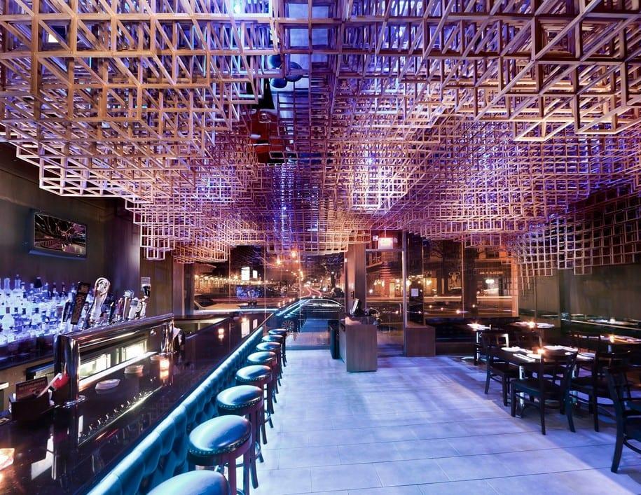 Интерьер ресторана Innuendo в Порт Вашингтоне от Bluearc