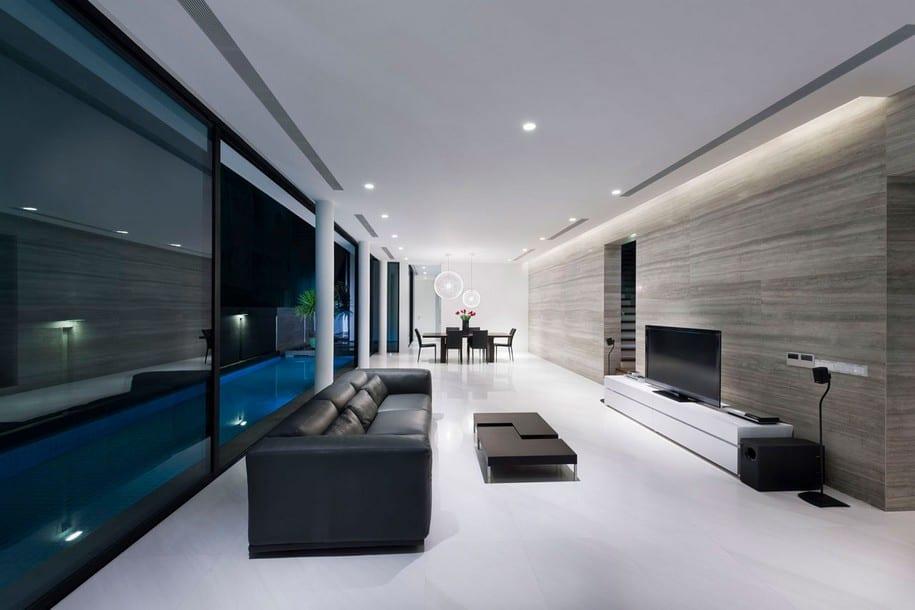Интерьер в стиле минимализма в Сингапуре