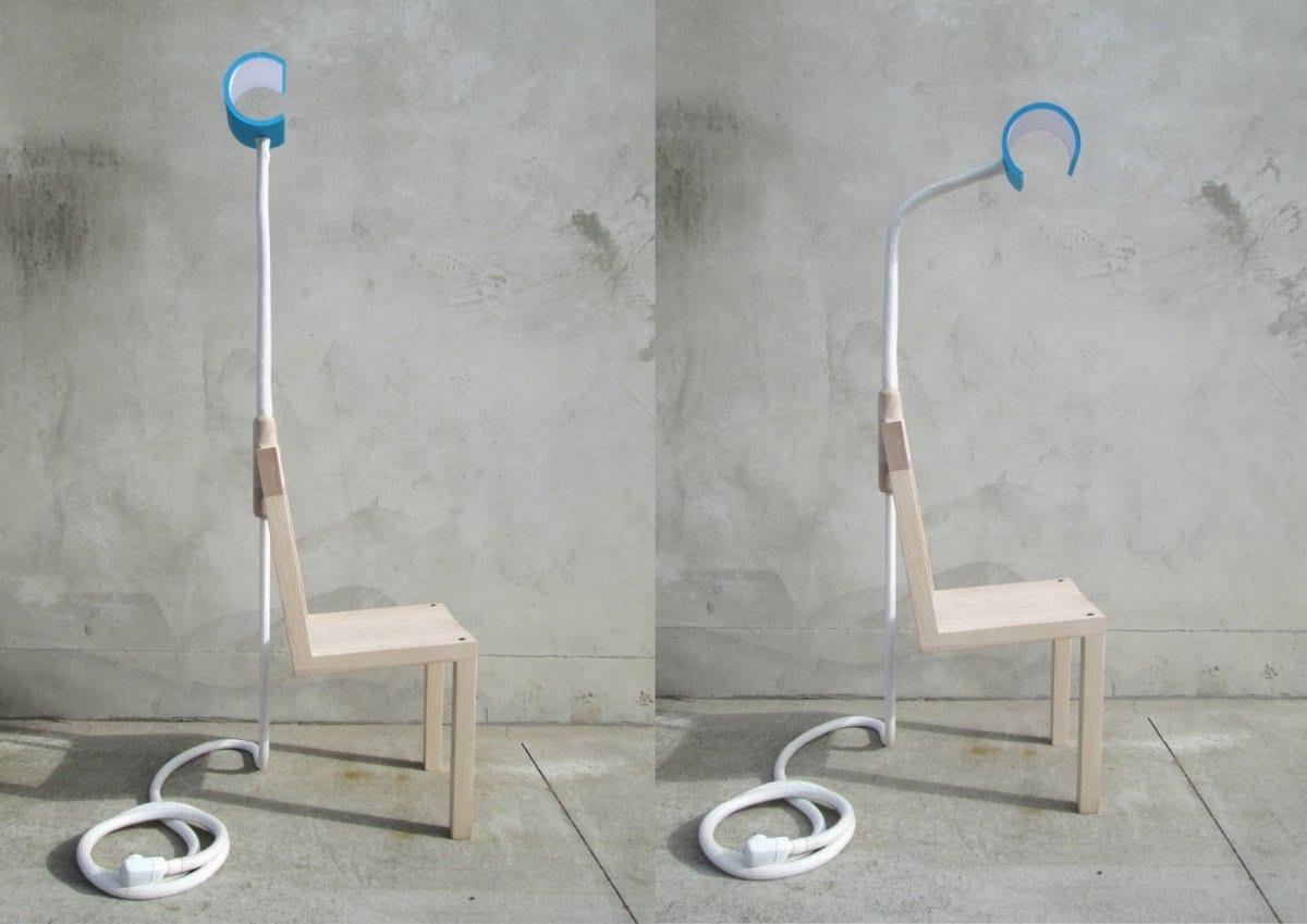 Глен Льюис-Стил, Glen Lewis-Steele, Lambent Chair, необычная мебель, дизайнерская мебель, стул с подсветкой, стул с лампой, стул для чтения