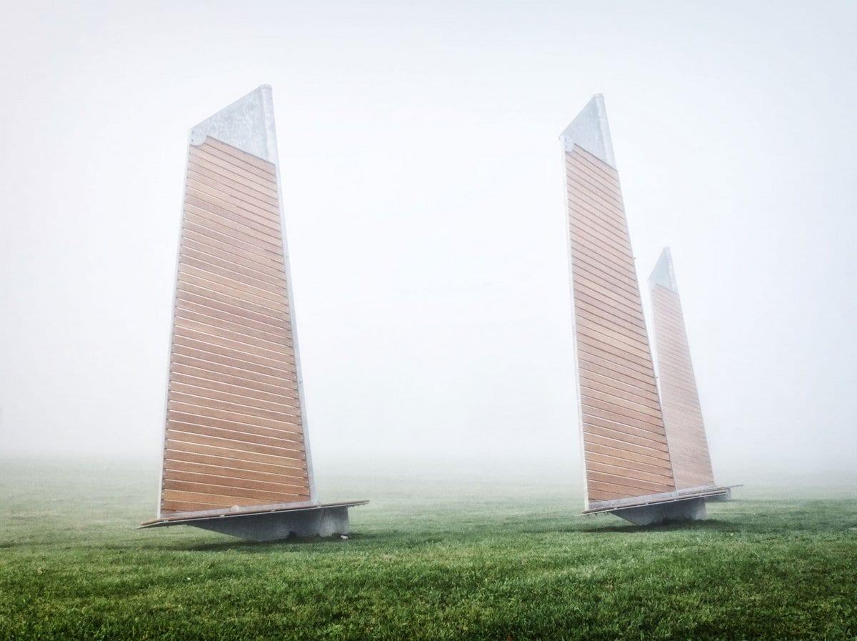 Феликс Гийон, Felix Guyon, городская архитектура, канадский дизайнер Феликс Гийон, памятник парус, лодка-лавочка, Sails Park Benches