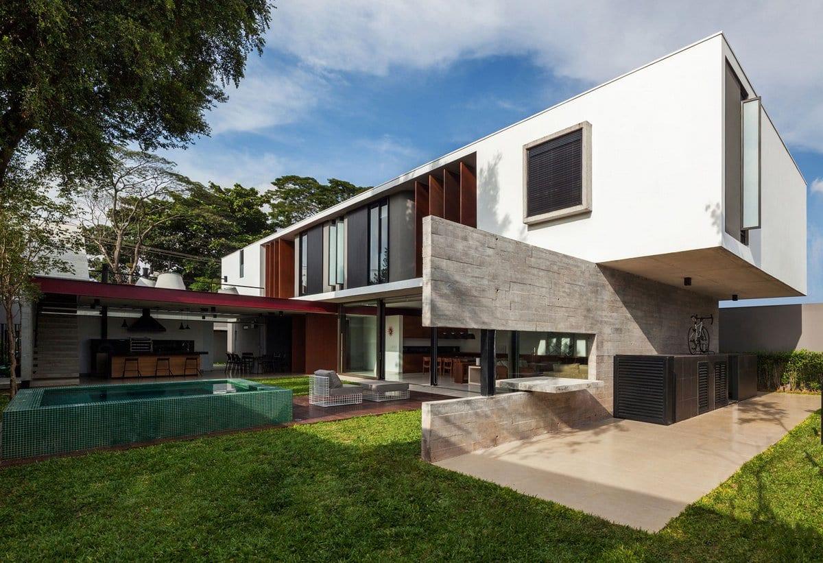 Резиденция Casa Planalto в спальном районе Сан-Паулу