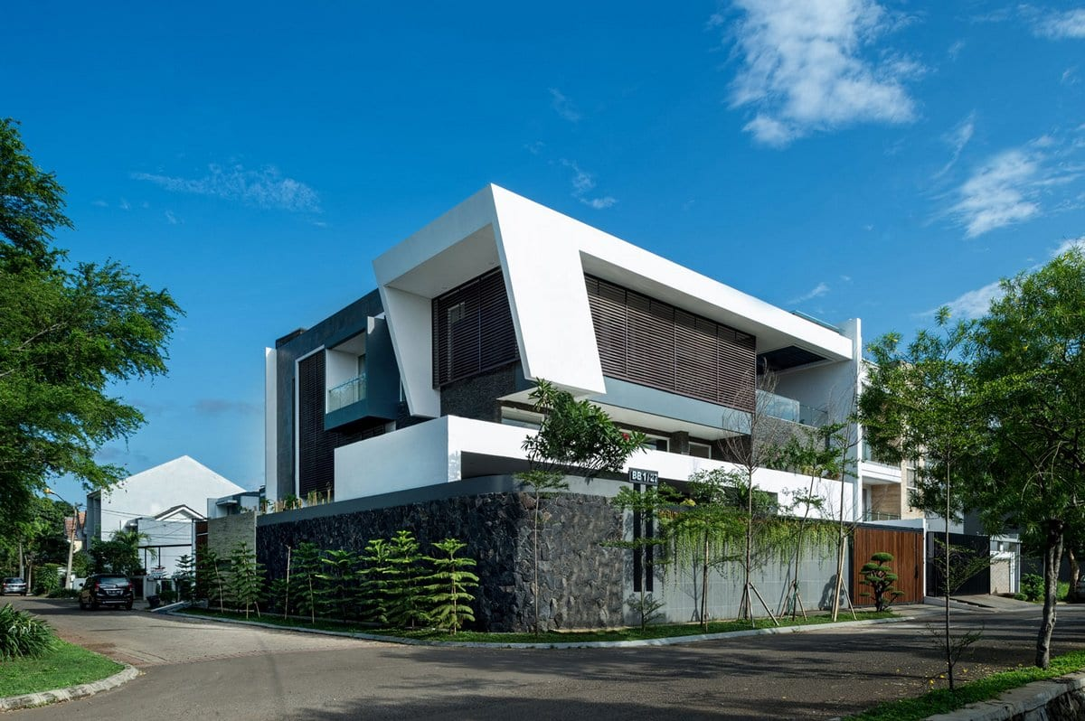 DP+HS Architects, фасад дома фото частных домов, отделка фасадов частных домов фото, отделка фасада дома камнем фото