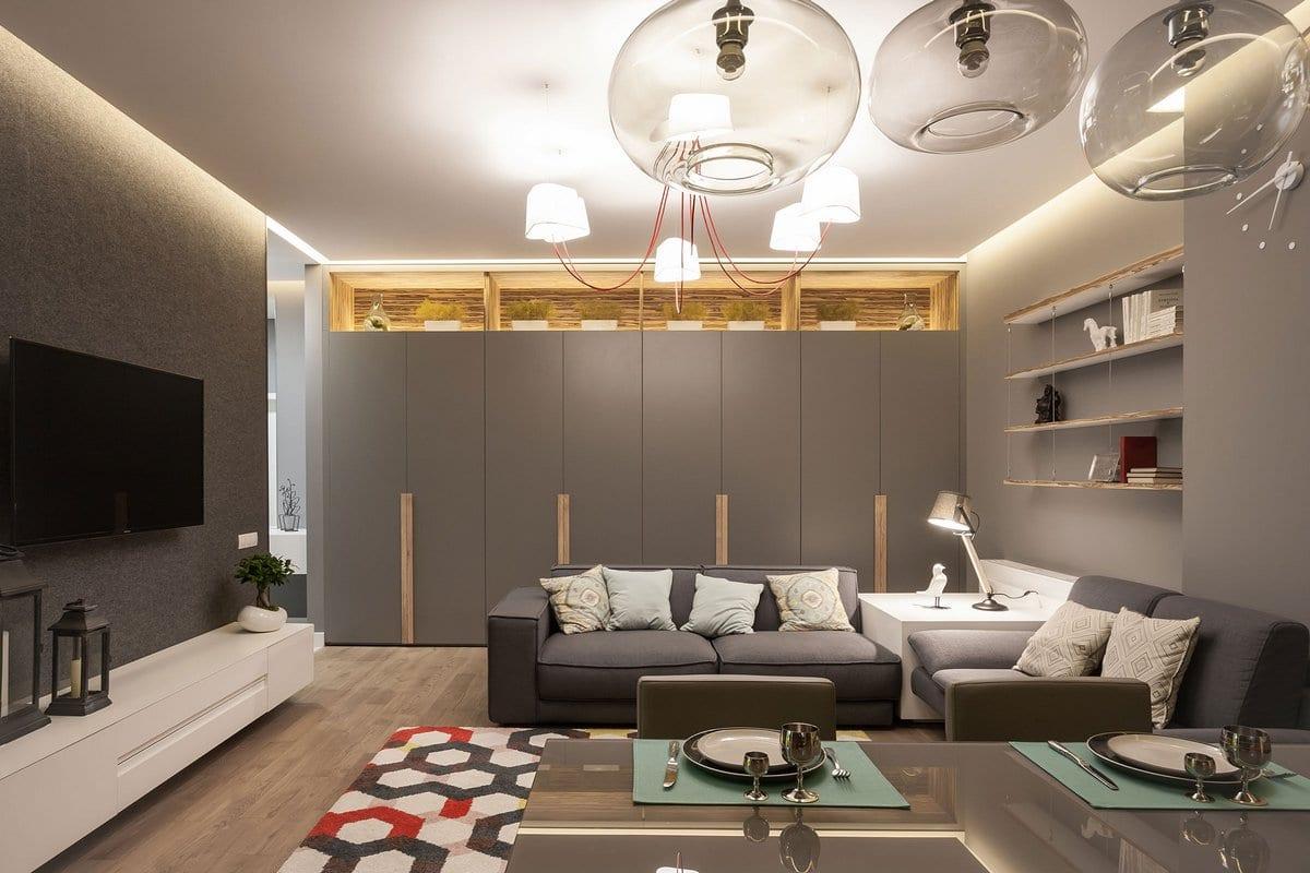 +1 Apartment, Svoya Studio, портфолио Svoya Studio, проекты Svoya Studio, проект дизайна интерьера, примеры интерьеров квартир фото, двухкомнтатная квартира интерьер