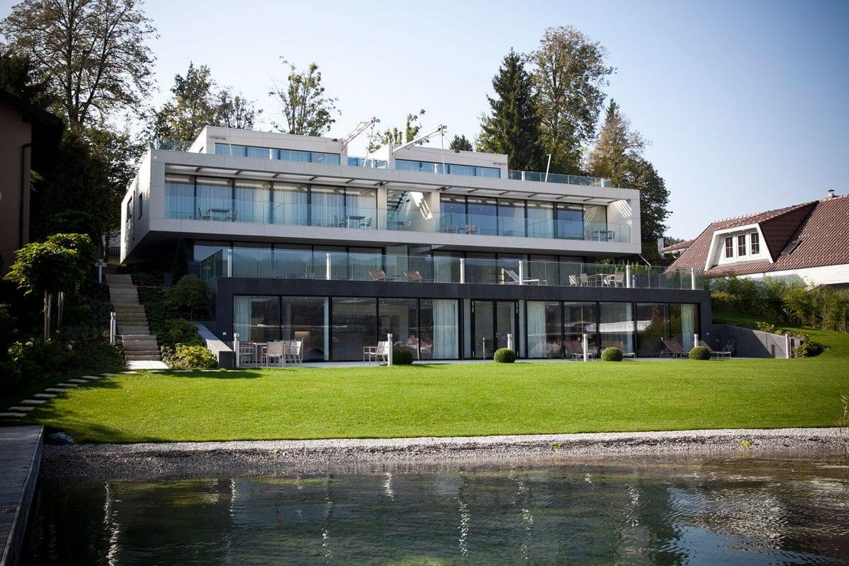 Steininger Designers, Villa N, Gaggenau, табуреты La Palma, Living Divani, Safretti, Bisazza, Dornbracht, Foscarini, Laufen, смесители Dornbracht