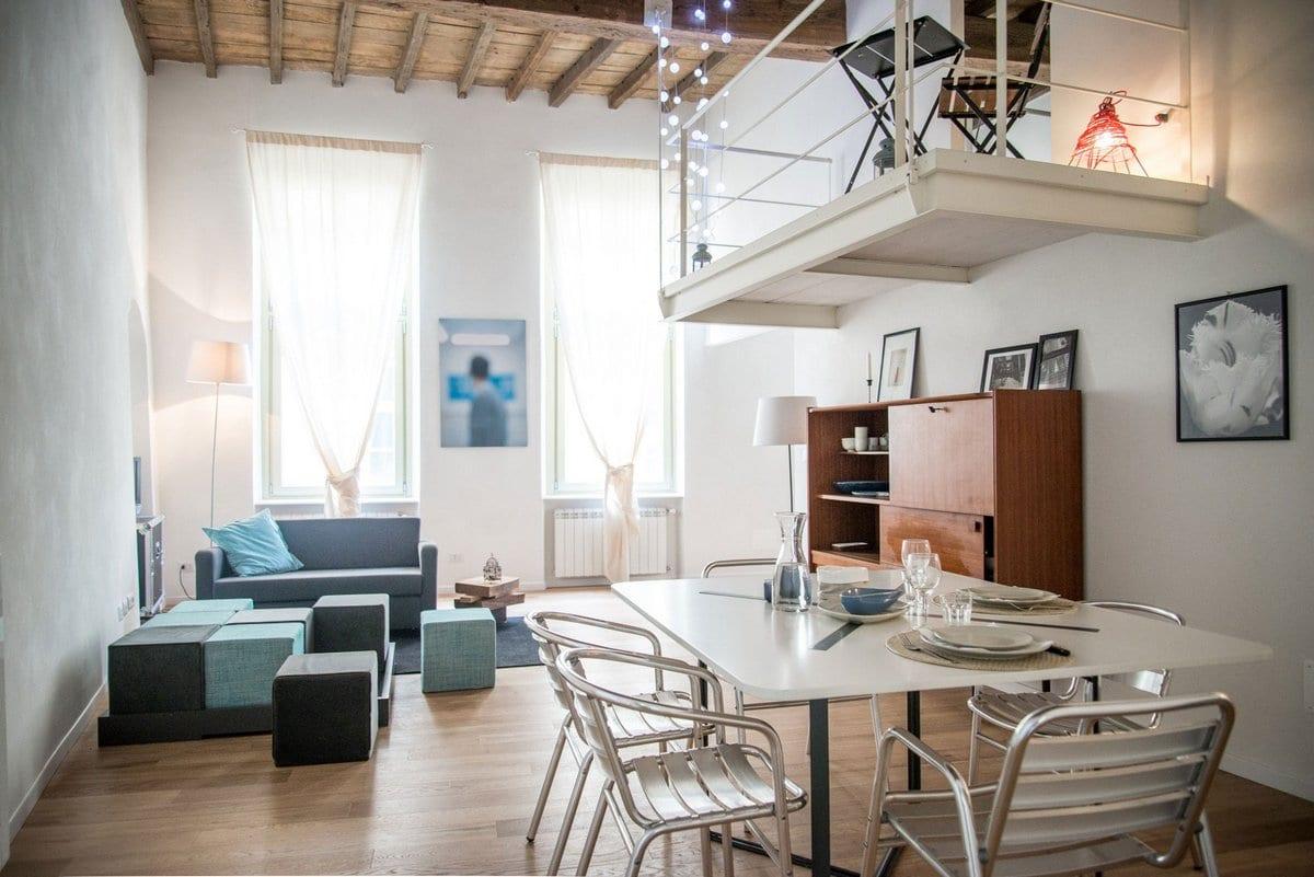 CON3STUDIO, квартиры в Турине фото, обзор элитных квартир в фотографиях, элитная недвижимость в Италии, двухэтажная квартира фото