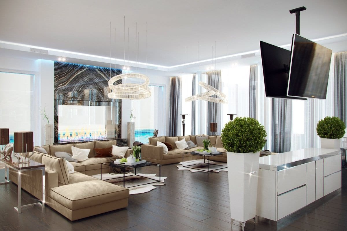 Palm jumeirah for Villa lotto interior design