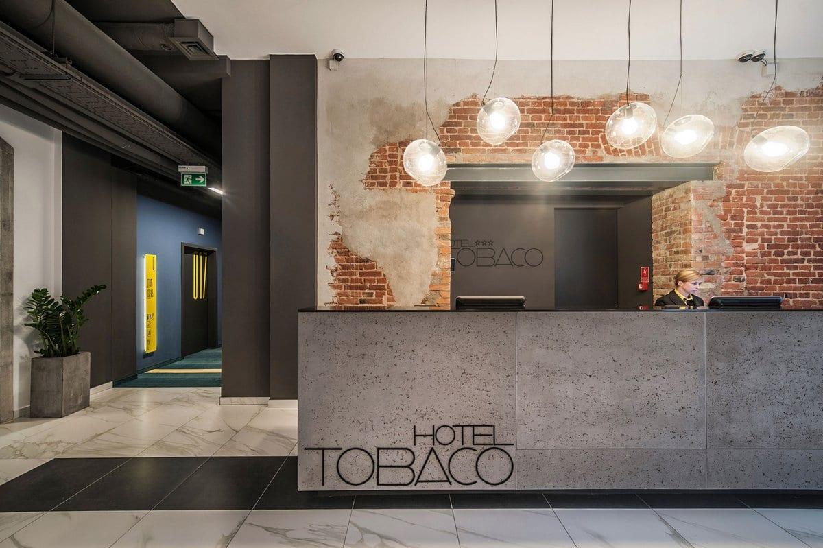 Современный отель Tobaco Hotel в историческом районе польского города Лодзь