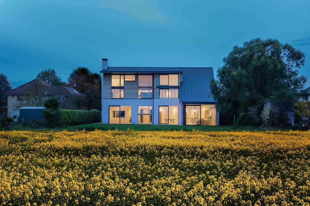 Meadowcroft, OB Architecture, план дома, схема дома, дома в Англии, ом с покатой крышей фото, варианты покатой крыши, современный частный дом фото