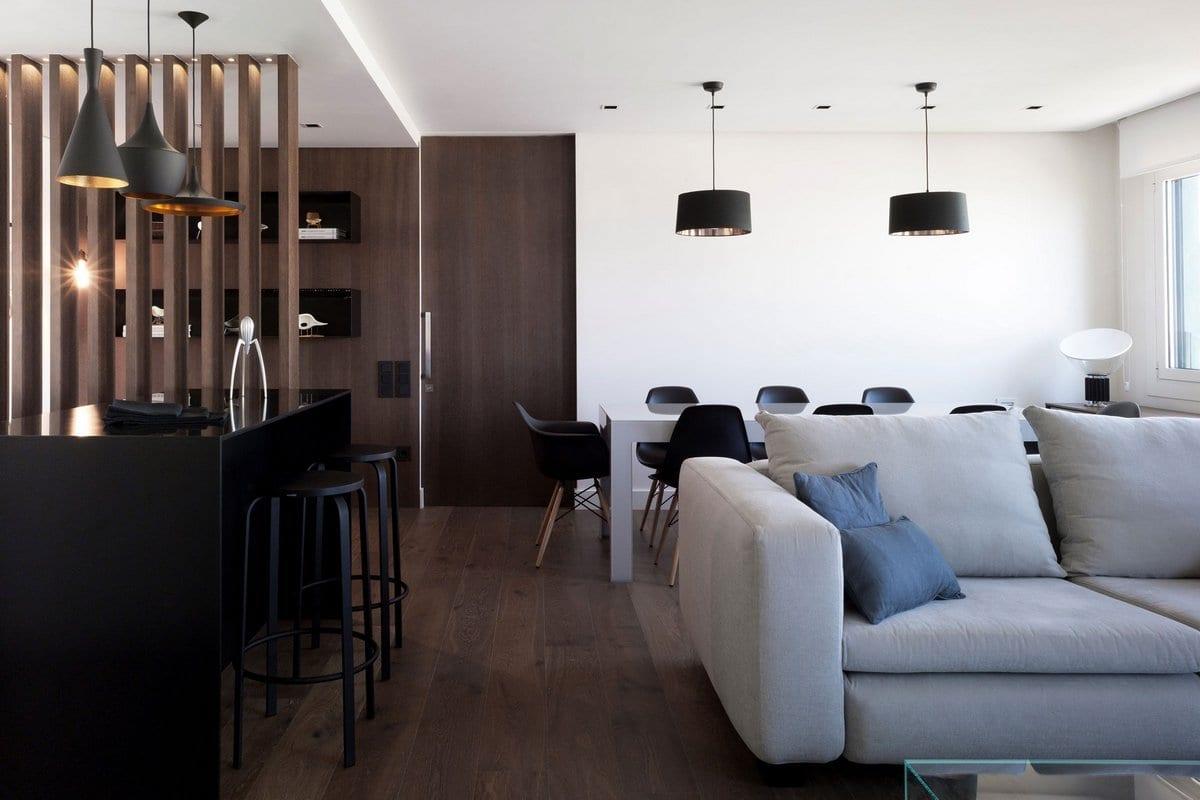 Современный интерьер квартиры в Валенсии