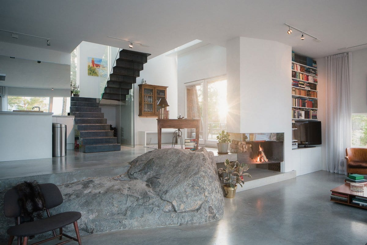 Стильная резиденция на острове в Швеции