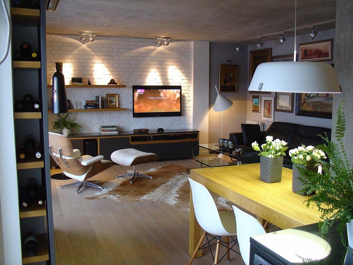 Стильные холостяцкие апартаменты в Сербии от OPENstudio