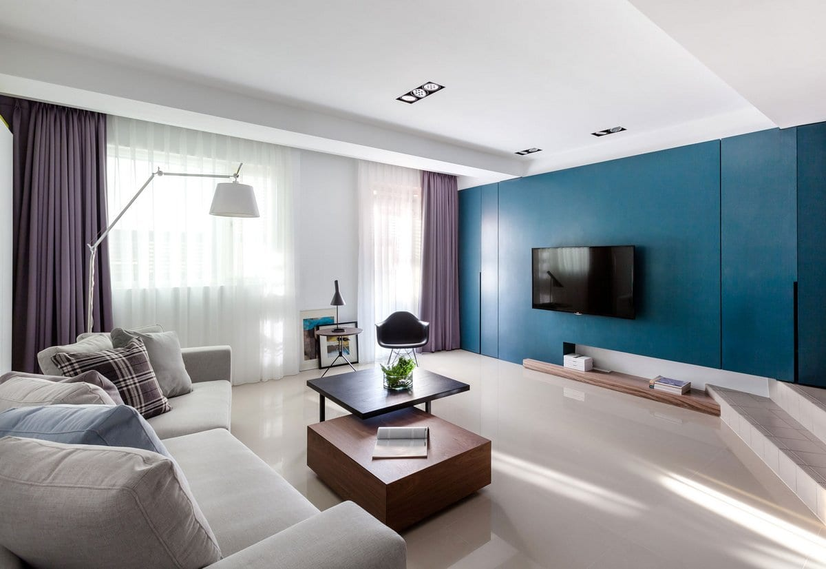 Стильный интерьер двухкомнатной квартиры от Z-Axis Design