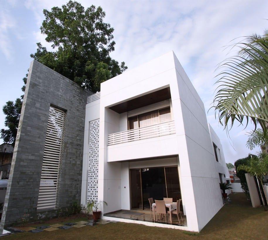 The Wall House — двухэтажный особняк в Индии