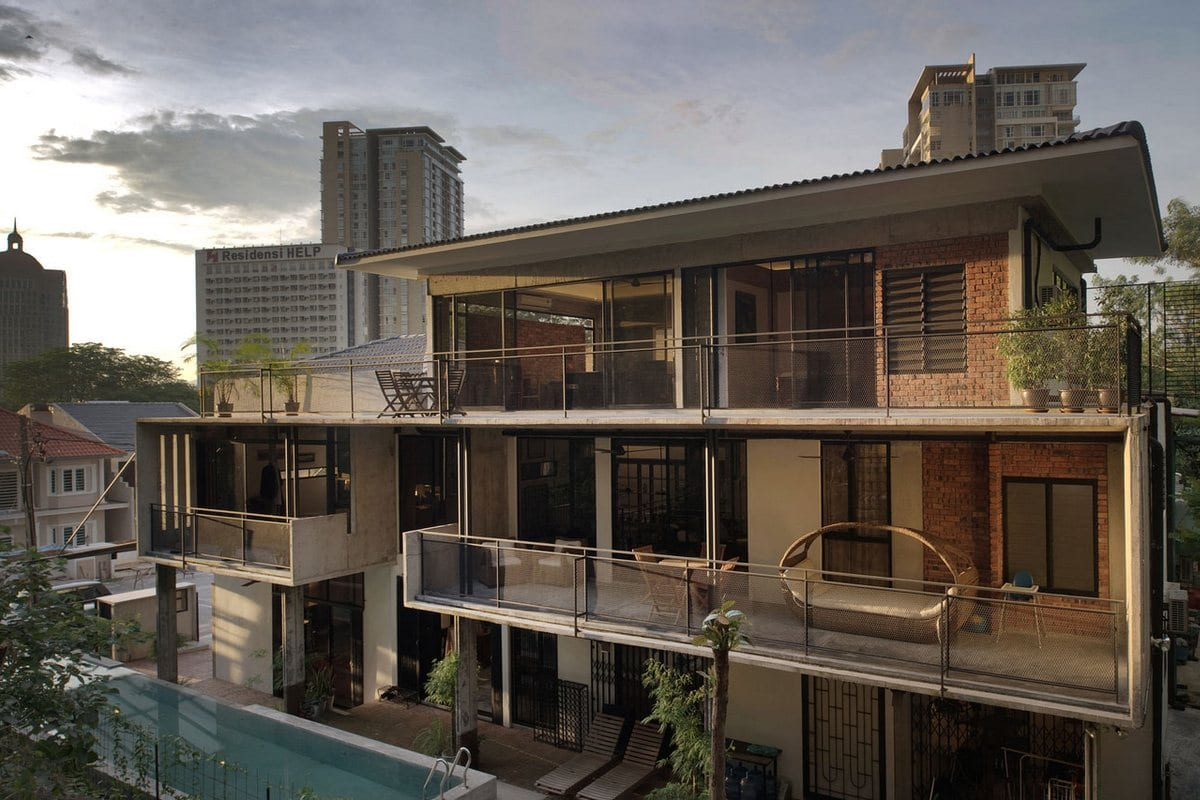 Seshan Design Sdn Bhd, дома в Куала-Лумпур, частные дома Малайзии, трехэтажный дом фото, оформление частного дома фото, дизайн проект частного дома