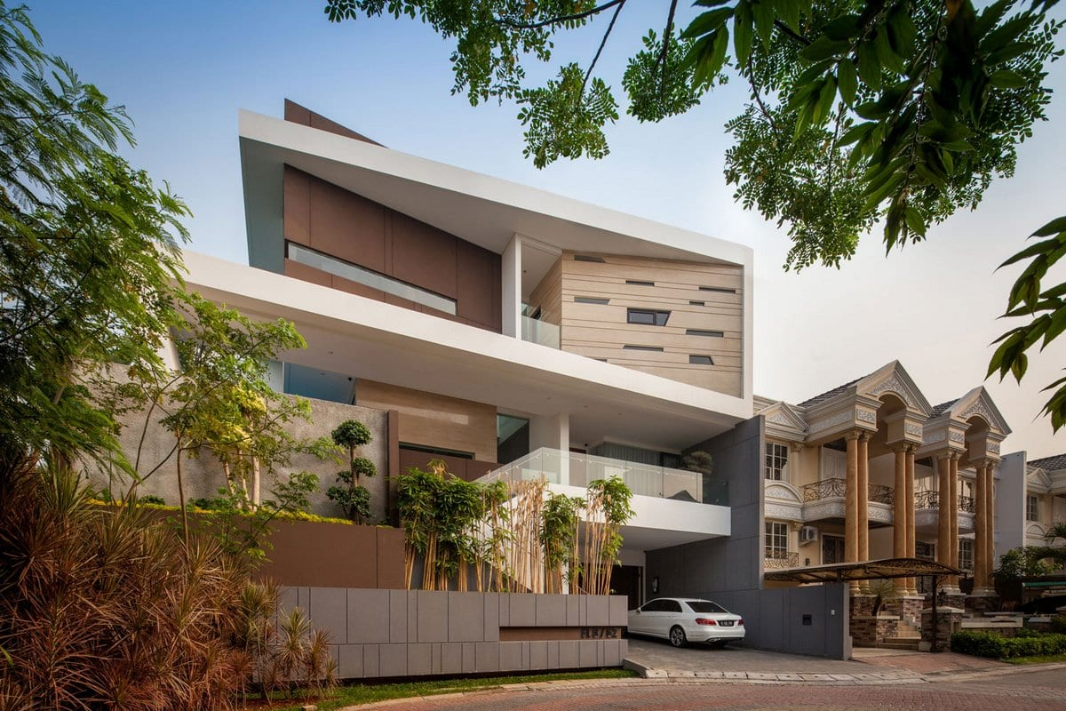 DP+HS Architects, F+W House, ситеклянная крыша дома фото, большой частный дом проект фото, стеклянный пол в доме фото, домашний кинотеатр в доме фото