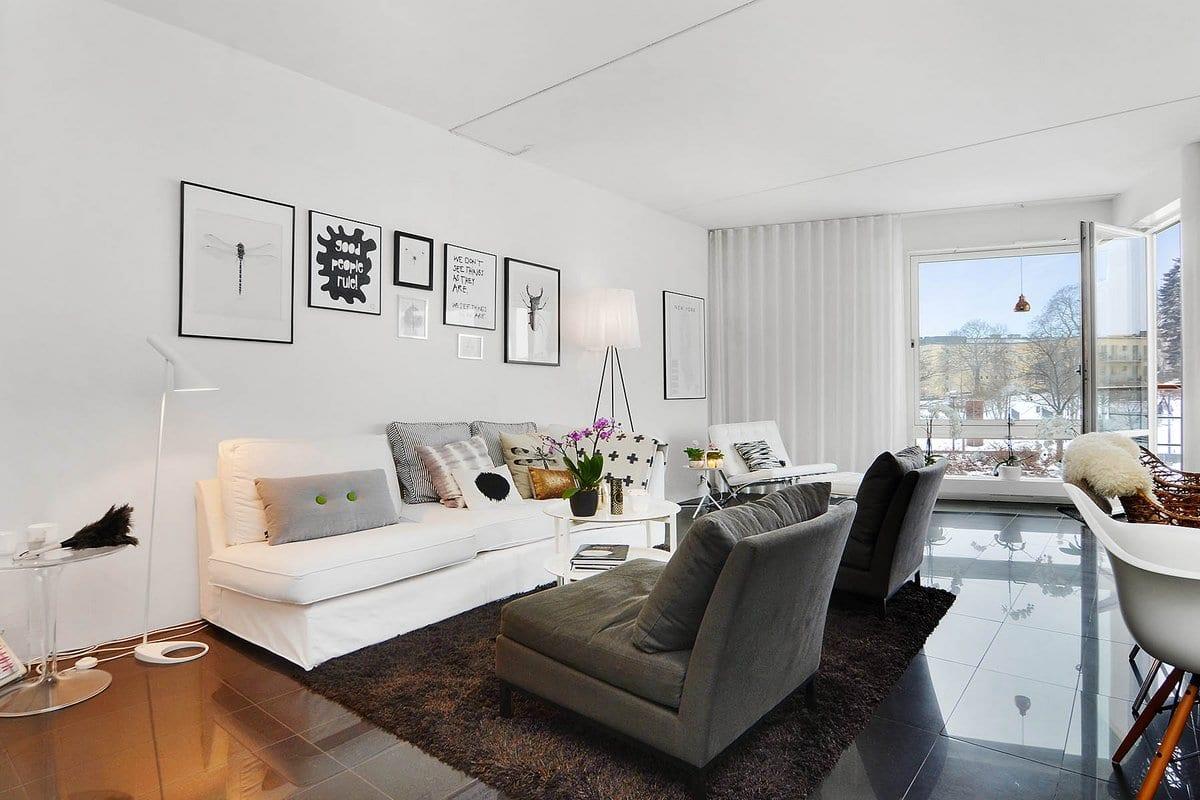 Яркая 2-комнатная квартира в скандинавском стиле