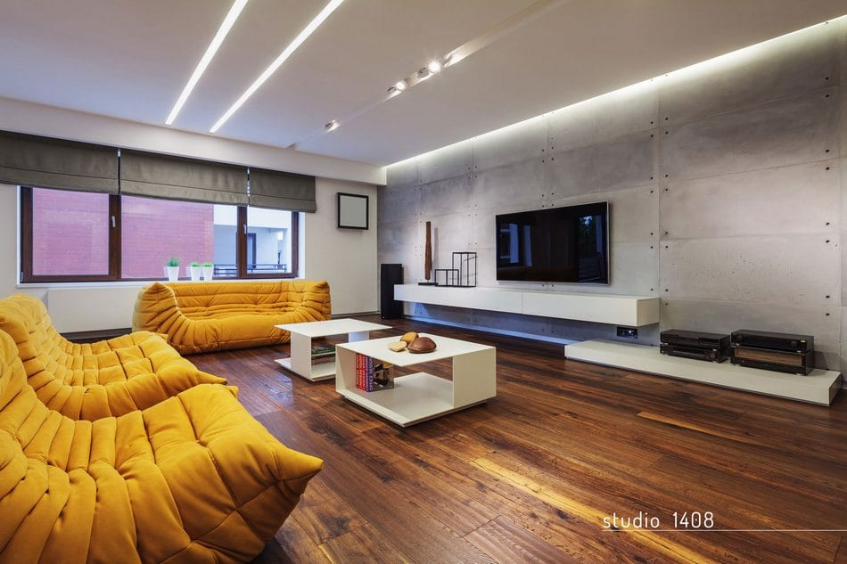 Яркий дизайн интерьера квартиры в центре Бухареста